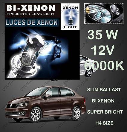 Volga Bi-Xenon HID Kit H4 Size Hi-Low Beam 35W 6000K Dimond White For  Volkswagen Vento  Amazon.in  Car   Motorbike 6f0ee713b5
