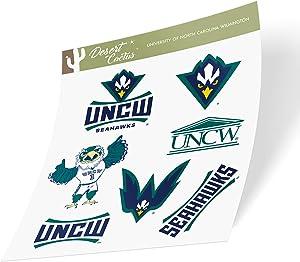 University of North Carolina Wilmington UNCW Seahawks NCAA Sticker Vinyl Decal Laptop Water Bottle Car Scrapbook (Type 2 Sheet)