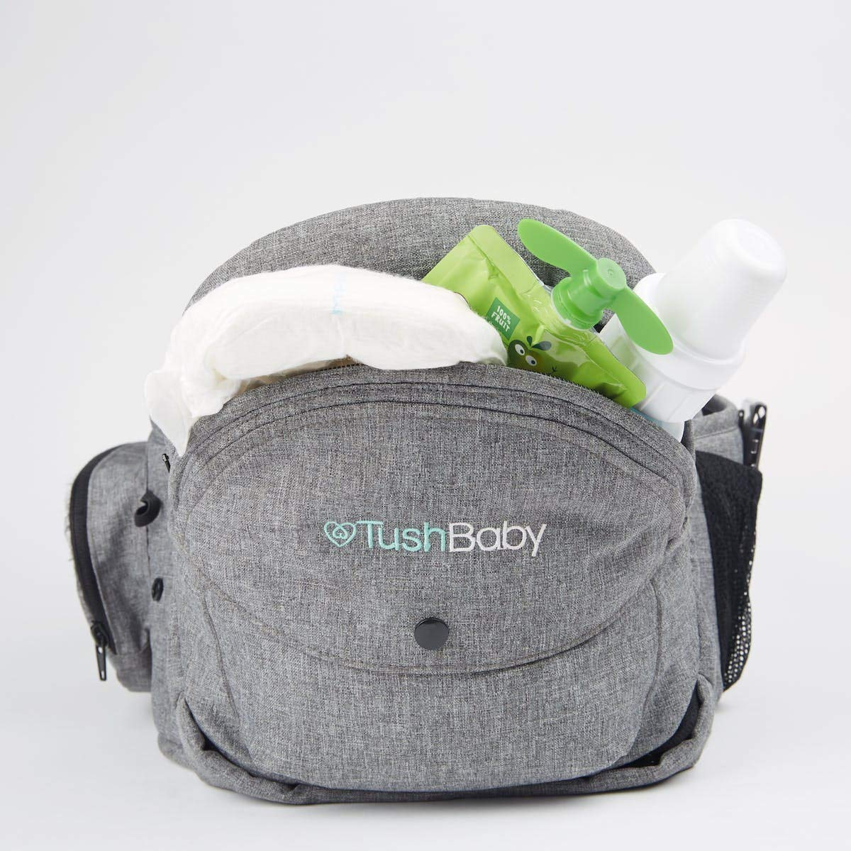 TushBaby The Original Hip Seat Baby Carrier, Grey by TushBaby (Image #7)
