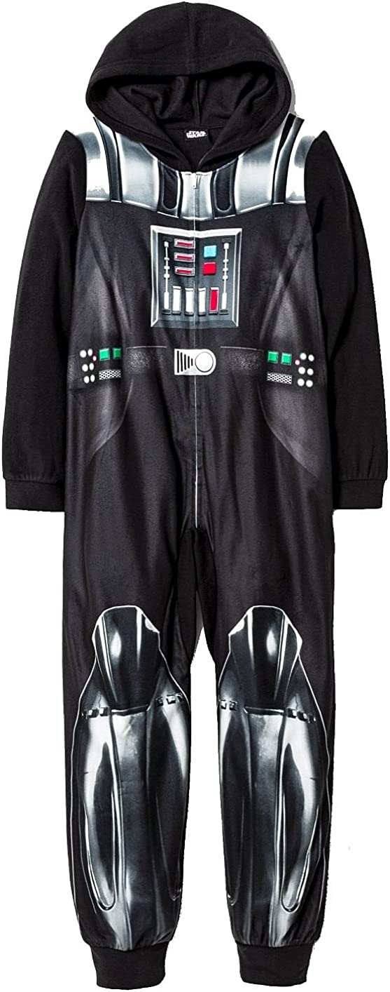 AME Star Wars Darth Vader Boys Size XS 4//5 Caped Fleece Footed Pajama Sleeper