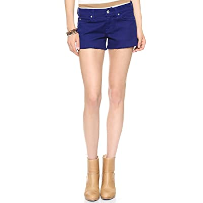 7 for All Mankind Women's Cut-Off Short Cobalt Blue Shorts 30 X 2.5: Clothing