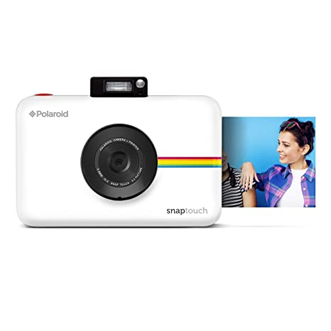 Polaroid Snap Touch Instant Print Digital Camera with LCD Display  White  with Zink Zero Ink Printing Technology Instant Film Cameras