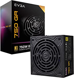 EVGA 220-GA-0750-X1 Super Nova 750 Ga, 80 Plus Gold 750W, Fully Modular, ECO Mode with Dbb Fan, 10 Year Warranty, Compact 150mm Size, Power Supply