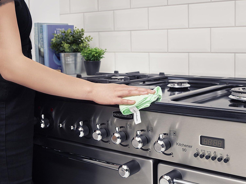 Clay Roberts Bayeta de Limpieza de Microfibra Pa/ños Lavables para Cocinas y Vehiculos Colores Surtidos Paquete de 5