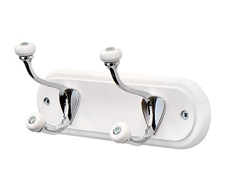 Keypak - Perchero de Pared con 2 Ganchos, Color Blanco ...