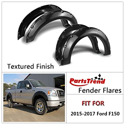 Fit 2011-2016 FORD F250//350 Pocket Riveted Textured Fender Flare Wheel Covers