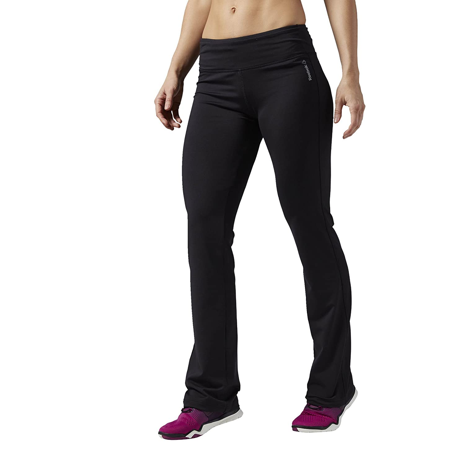 Reebok Women's Work Out Ready Pant Program Fitted Bootcut