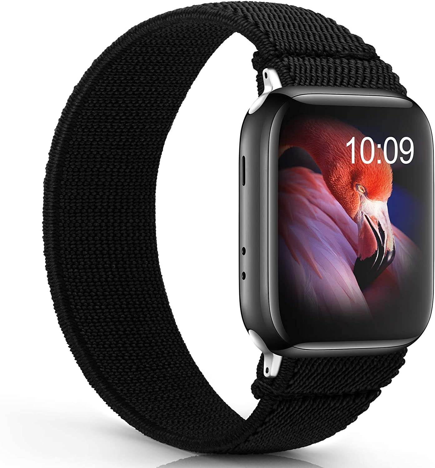 Solo Loop Elastic Band Compatible for Apple Watch Bands 44mm 42mm 40mm 38mm Women Men,Stretchy Nylon Braided Sport Strap Wristbands for iWatch Series SE 3 6 5 4 2 1 for Girl Ladies