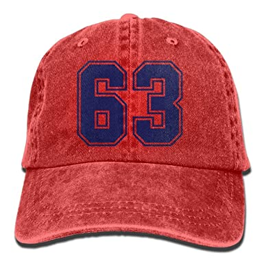 Número 63 Denim Gorras de béisbol Sombrero Algodón Ajustable Gorra ...