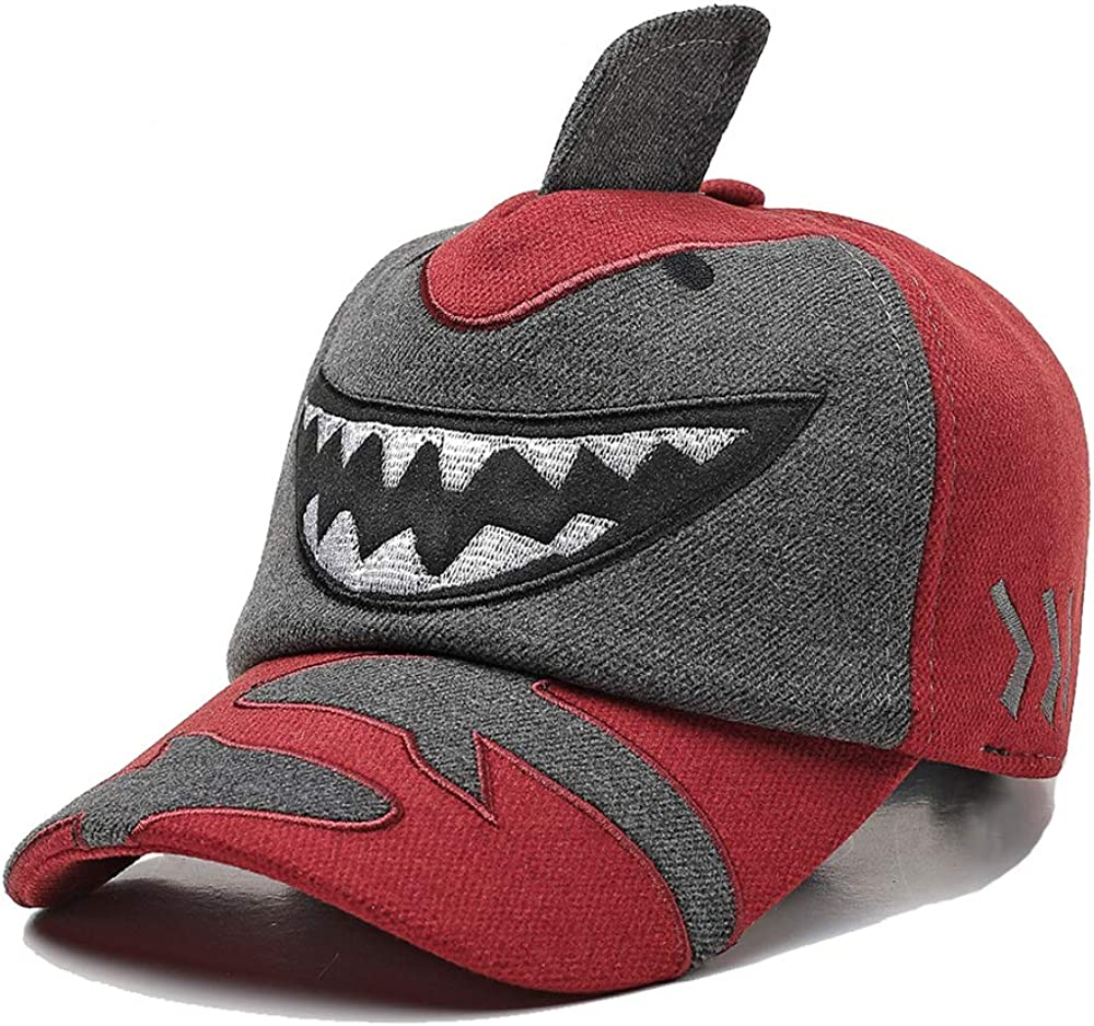 Xinqiao Boys Girls Embroidery Shark Toddler Cool Snapback Cap Baseball for Kids