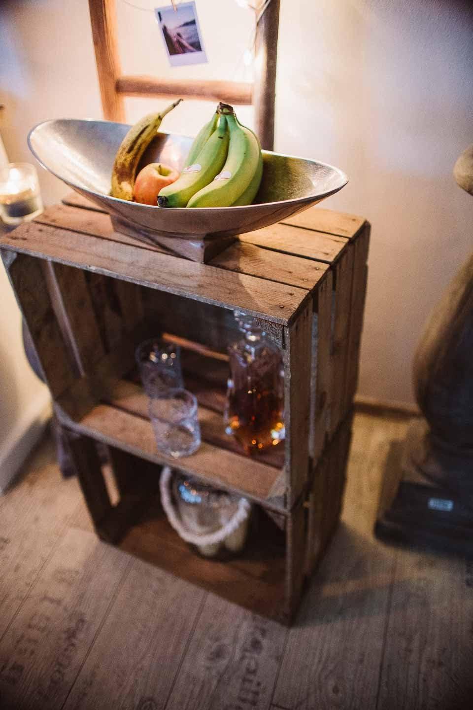 Teramico Holzbox Apfelkiste Obstkiste Weinkiste Holzkiste Vintage Shabby b/ürstenrein und stabil 50x40x30cm