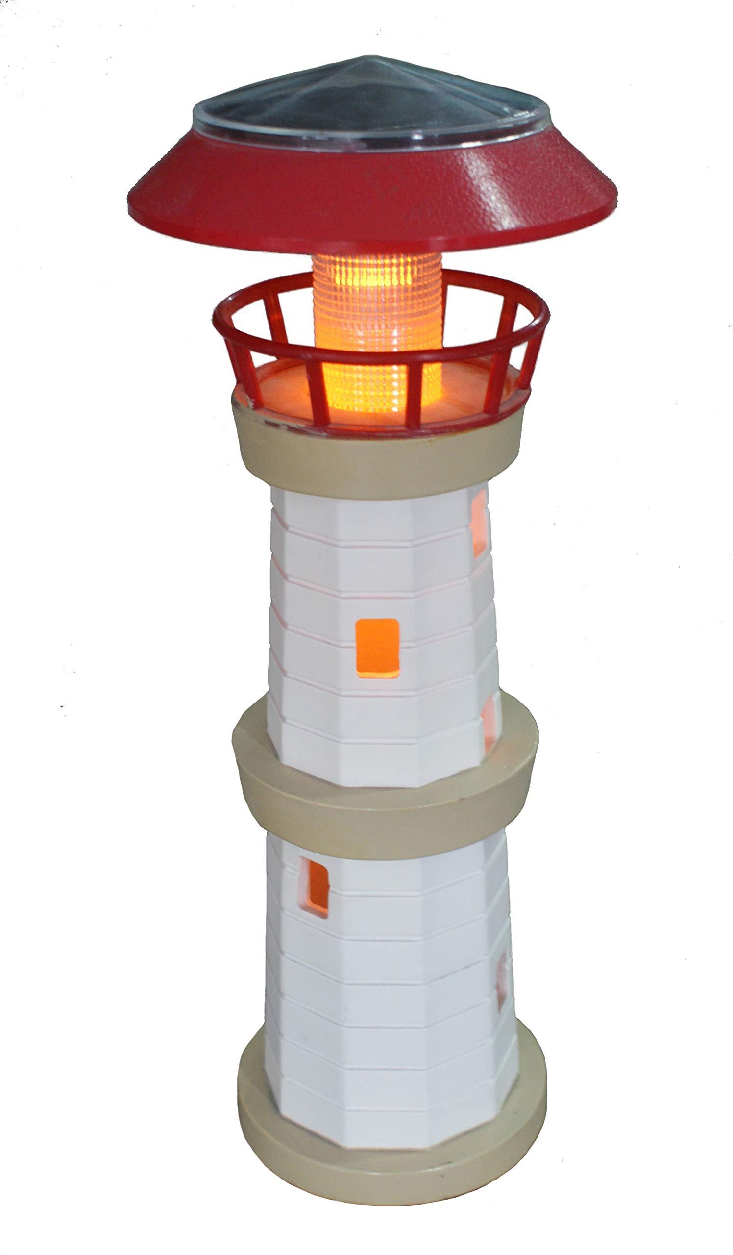 14¡±Decor Solar Powered Outdoor Garden lighthouse by TIAAN