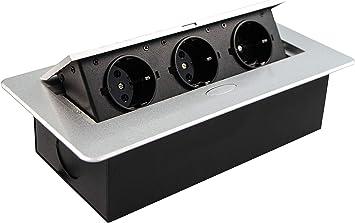 Gedotec - Caja de enchufe para cocina y escritorio - Caja de ...