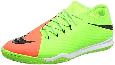b18608807772 Nike Mens Hypervenomx Finale II Indoor Shoes  Electric Green  (8.5)