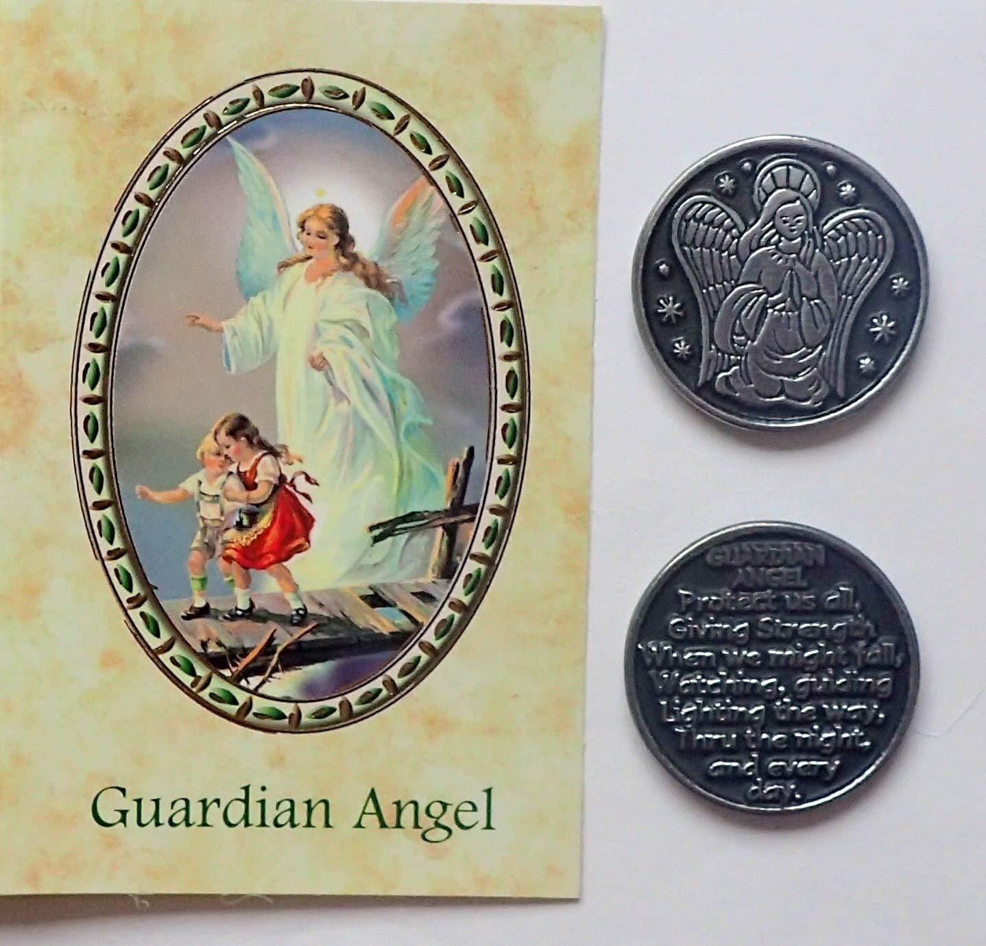 Guardian Angel Pocket Token & Prayer Verse Card CBC
