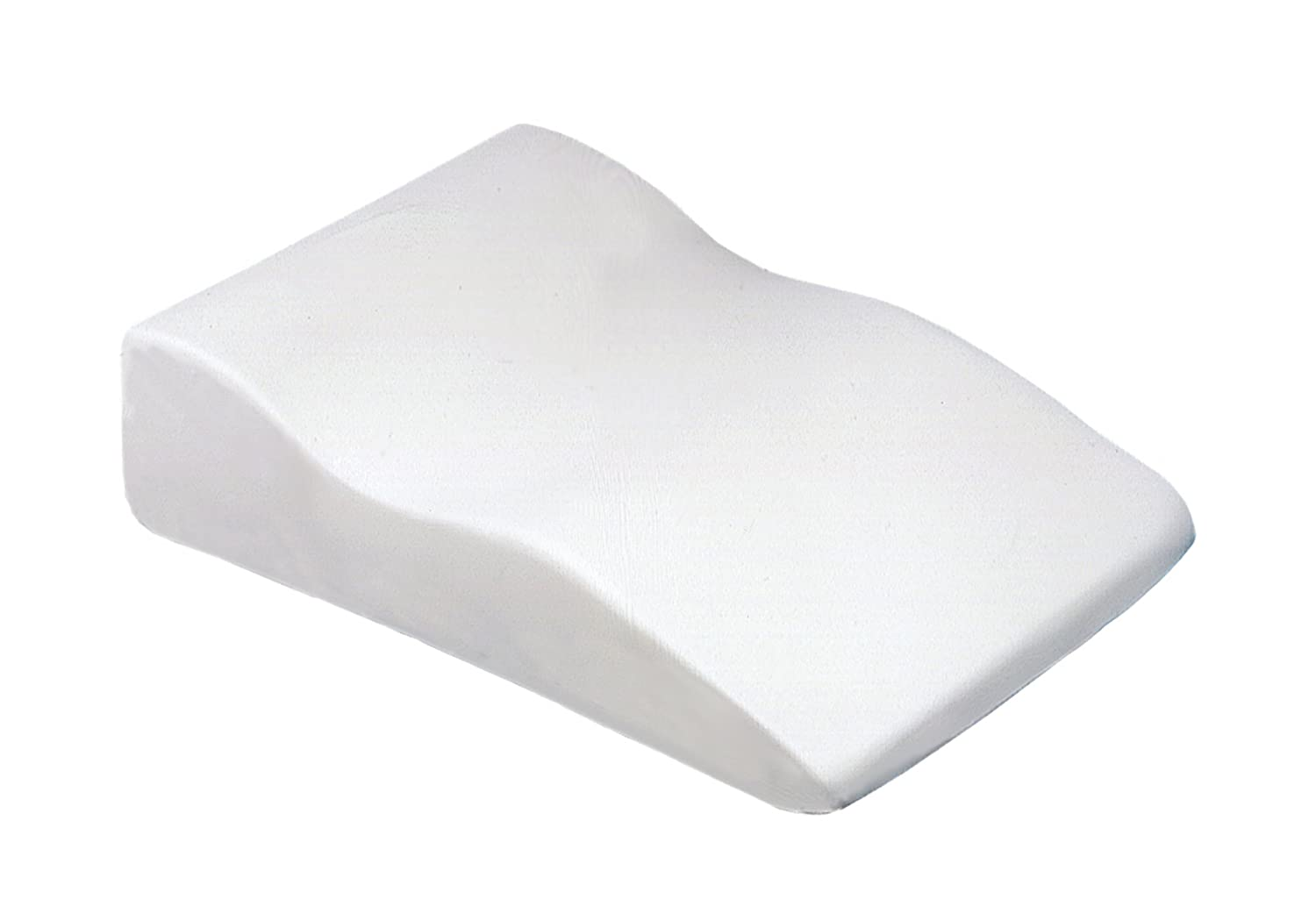 SISSEL Venosoft Leg Pillow Largel with White Visco elastic cover Temp Control Leg Elevator Cushion,Support and Elevation Pillow for Surgery, Injury, or Rest 5501VS 140.002_Bianco