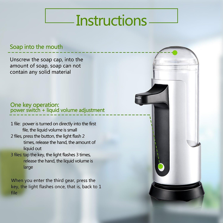 Amazon.com: LESHP Automatic Soap Dispenser, Auto Touchless Sensor ...