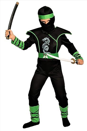 Magicoo Cobra Ninja Kostum Fur Kinder Jungen Grun Schwarz