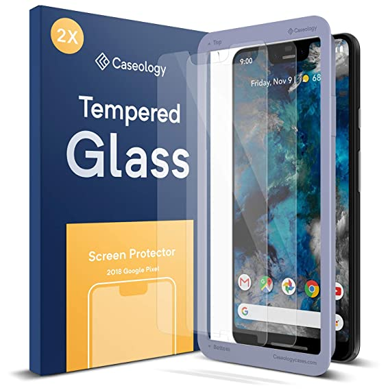 pretty nice 8c862 5fe7a Caseology Screen Protector for Google Pixel 3 XL Tempered Glass (2018) - 2  Pack