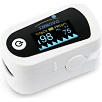 Innovo Premium Fingertip Pulse Oximeter Blood Oxygen Monitor with Plethysmograph and Perfusion Index