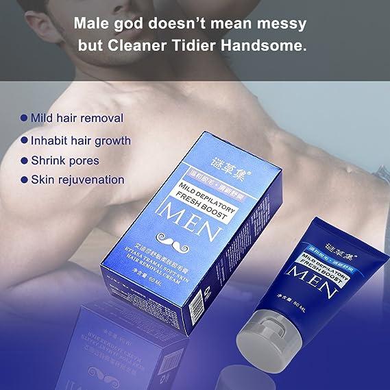 Crema de eliminación vello, 60ML Hombres, cuerpo, axila, brazo ...