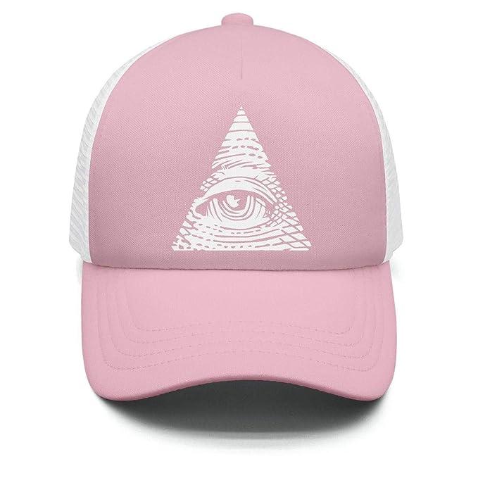 b29d2094f1d Amazon.com  Hyduns Boys Girls Eye of Providence Kids Trucker Hats Toddler  Baseball Mesh Cap  Clothing