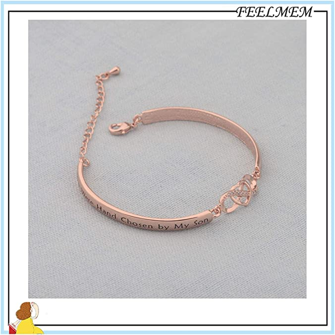 REEBOOOR Daughter in Law Bracelet Daughter in Law Jewelry Our Son Picked You and We Did Too Gift for Daughter in Law