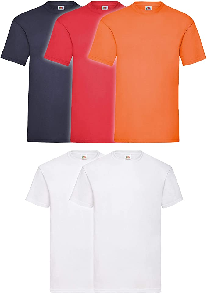 Mens FRUIT OF THE LOOM T-Shirts Tee 100/% Cotton Plain Tshirts 5 Colours M-XXL