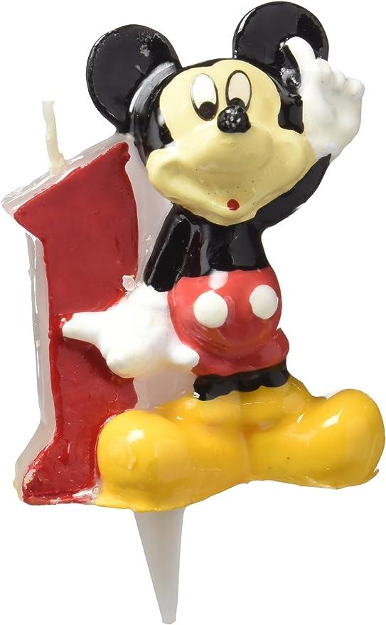 dekora 346141 Vela de Cumpleaños Mickey Mouse Numero 1, Cera ...