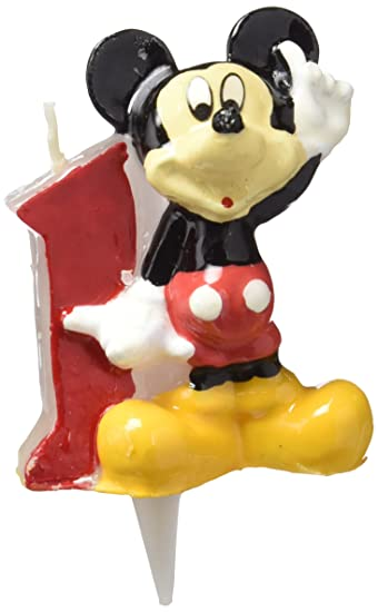 Amazon.com: Disney Mickey No1 - Vela de cumpleaños: Home ...