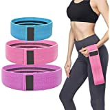 Resistance Band, LT Fabric Resistance Bands Set of 3 Non-Slip Booty Bands for Hip Circle Workout and Gym Fitness…