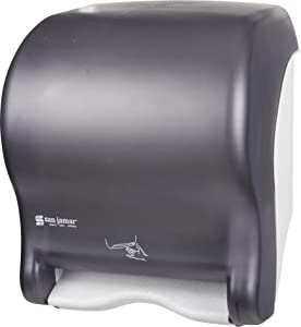 San Jamar T8400TBK Smart Essence Electronic Roll Towel Dispenser, 11.8w x 9.1d x 14.1