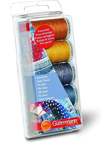Gutermann Jeans - Juego de hilos de costura, 5 bobinas, tonos vaqueros