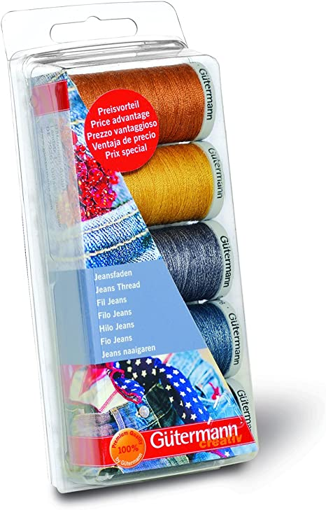 Gutermann Extra Strong 100/% Polyester Thread 100m Hand and Machine 5 Colour Set