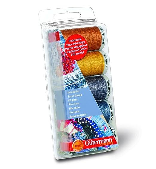 4 opinioni per Gutermann GUT_731323-1 Set di fili da cucito per jeans, Poliestere