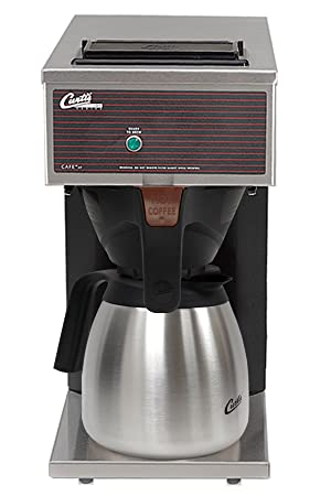 Wilbur Curtis Commercial Pourover Coffee Brewer 64 Oz Low Profile Thermal Carafe Coffee Brewer – Coffee Maker with Fast-Brewing System – CAFE0PP10A000 Each