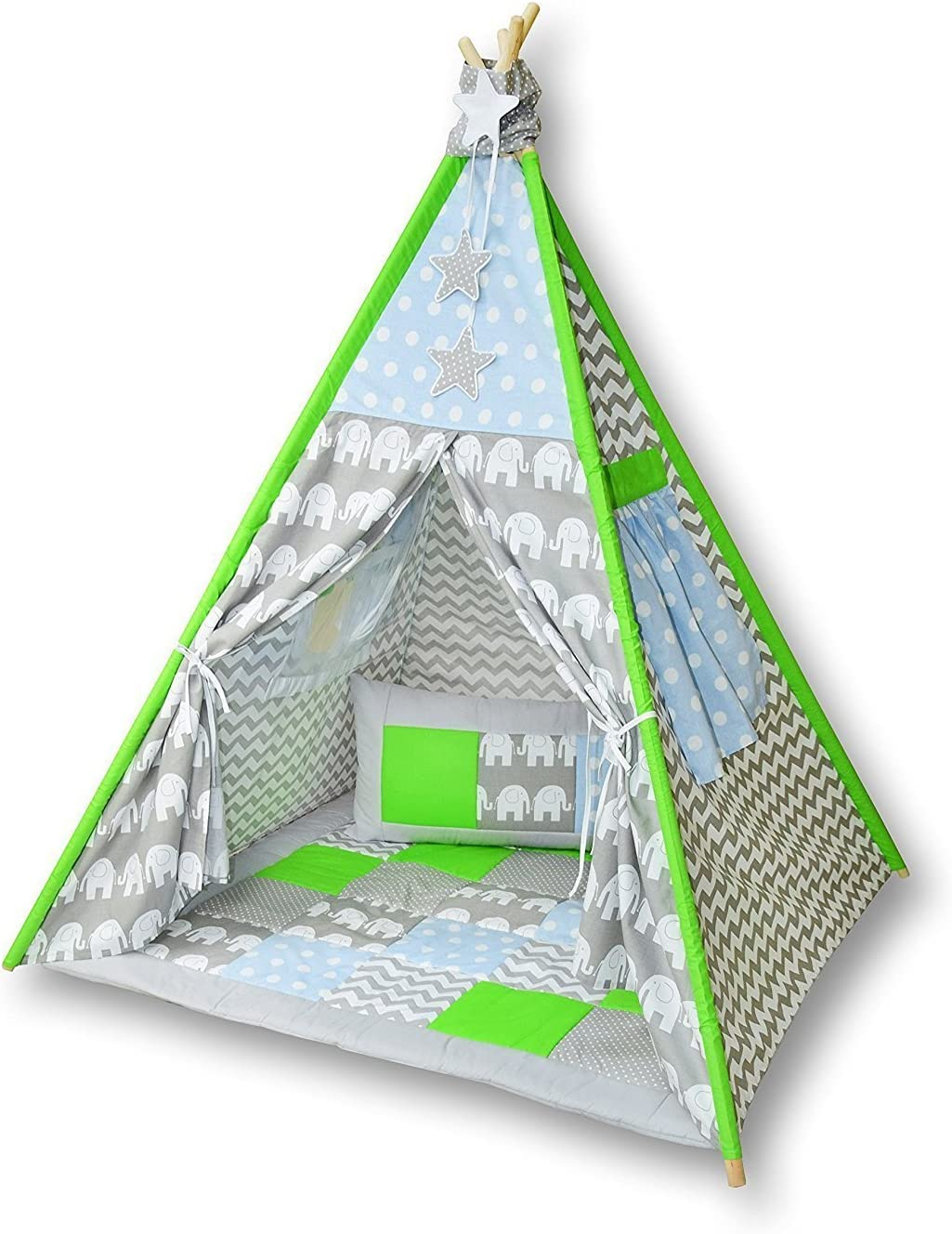 Amilian® Tipi Spielzelt Zelt für Kinder T03 Spielzelt