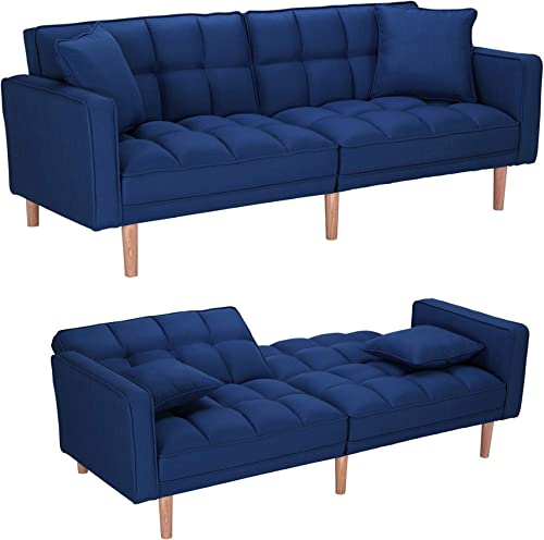 Modern Convertible Futon Sofa Bed,Sleeper Sofa Couch,Sectional Sofa,Fabric Recliner Back and Armrest Sofa Couch