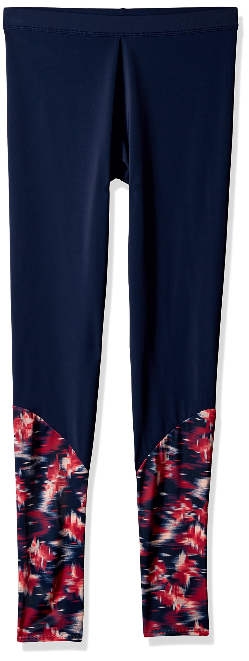Roxy Big Girls' Sporty Legging, Dress Blues Neon Waterfall, 10/M