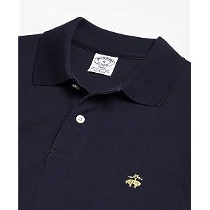 Brooks Brothers(ブルックス ブラザーズ) GF スーピマコットンピケ パフォーマンス ポロシャツ Slim Fit 32716150 ネイビー L