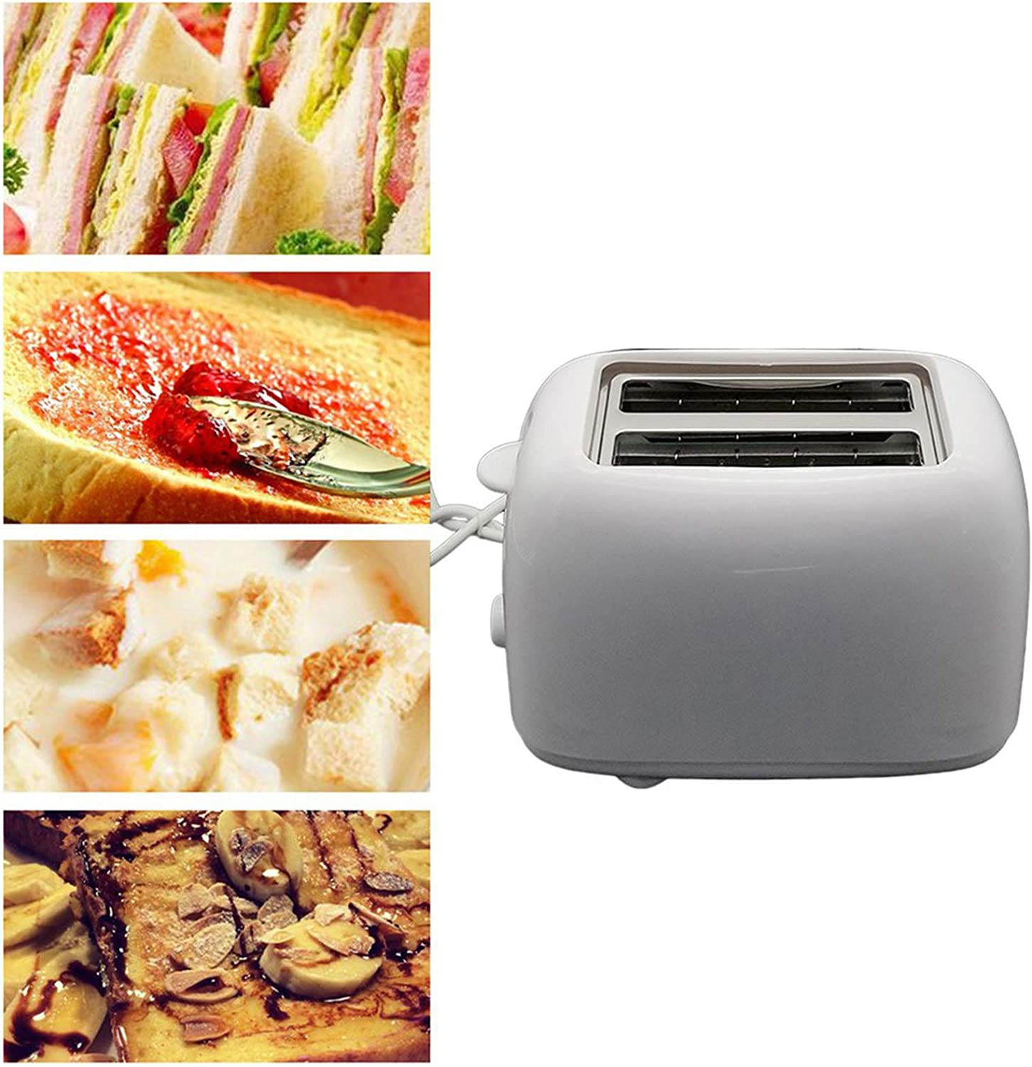 2-Slice Toaster with Adjustable Browning Control, 7 Toasting Functions for Household Automatic Breakfast Machine