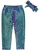 Kids Baby Girls Clothes Mermaid Fish Stretch Long Leggings Tight Pants