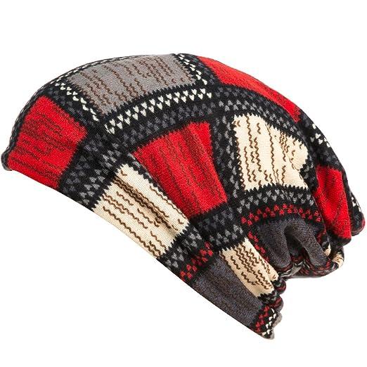 453e528cee1 DancMolly Print Flower Head Cap Cancer Hats Beanie Stretch Casual Turbans  for Women (Black)
