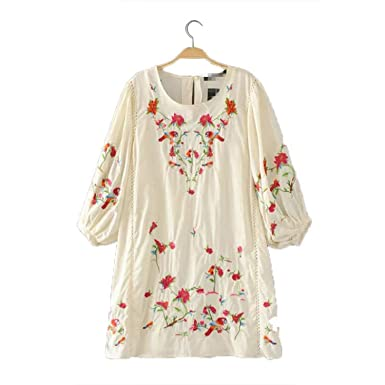 FDFAF Sexy Women vintage flower embroidery oversized dress two pieces set pleated lantern sleeve female casual