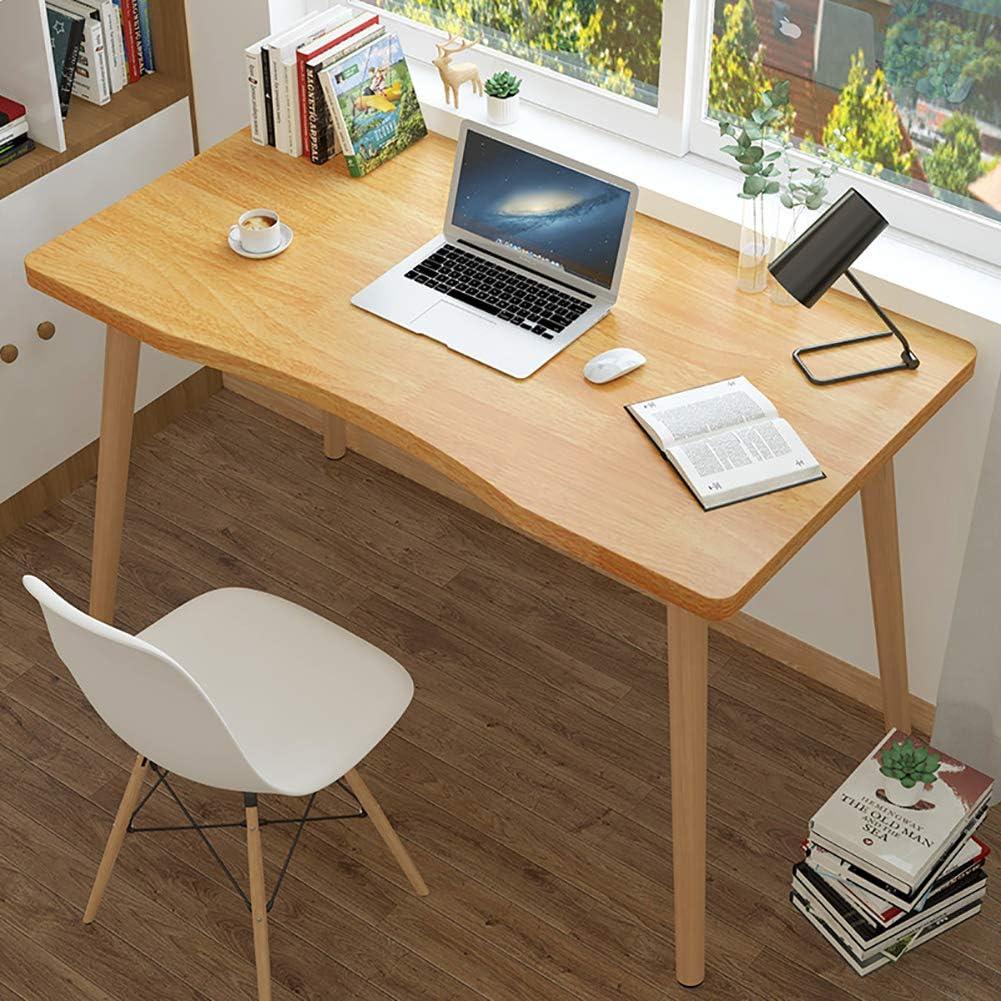 TOPYL Modern Computer Desk Ergonomic,Wooden Sturdy Office Desk Pc Laptop Table,Sturdy Writing Desk Workstation for Office Bedside Living Room