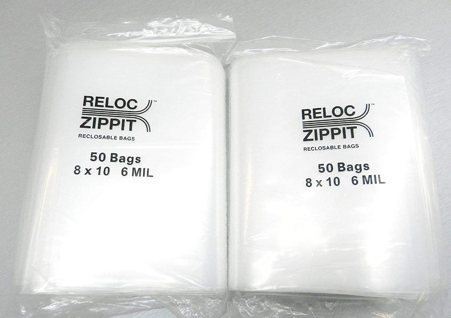 """100 Pack 3/"""" x 3/"""" Reclosable Clear Plastic Poly Zipper Bags 6 Mil Heavy Duty"""