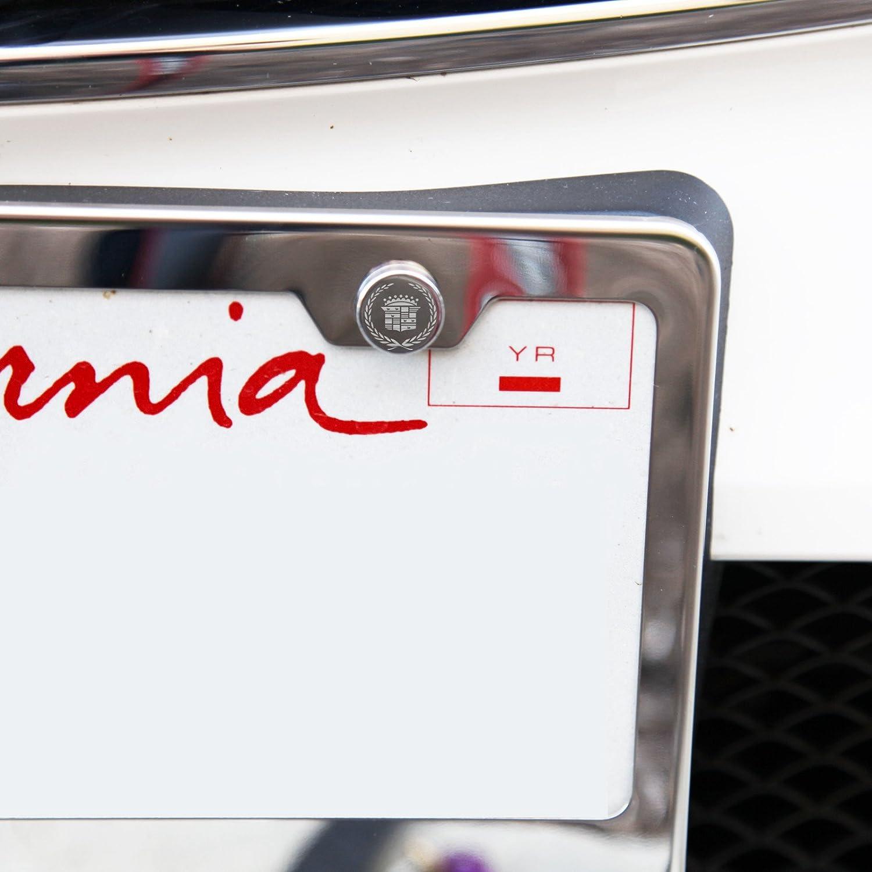 Set von 4 Cadillac Logo Laser Gravur Polish Spiegel Chrom Metall Cap ...
