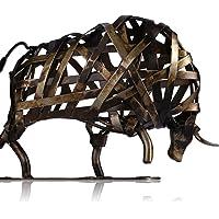 Scultura realizzata a Mano metallica-la vita: la Calma e follia-incisi forma di Elefante apparecchi per la decorazione della casa, opera d'Arte)