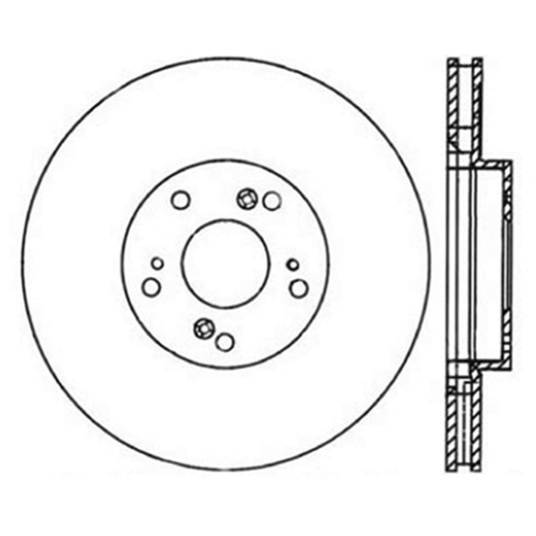 Power Slot 126.40057SL Slotted Brake Rotor