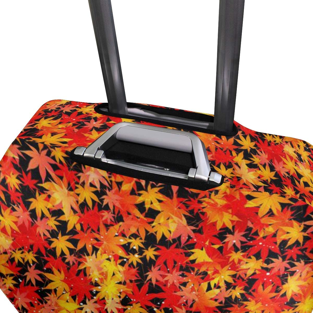 OREZI Luggage Protector,Maple Leaf Elastic Travel Luggage Suitcase Cover,Washable and Durable Anti-Scratch Case Protective Cover for 18-32 Inches